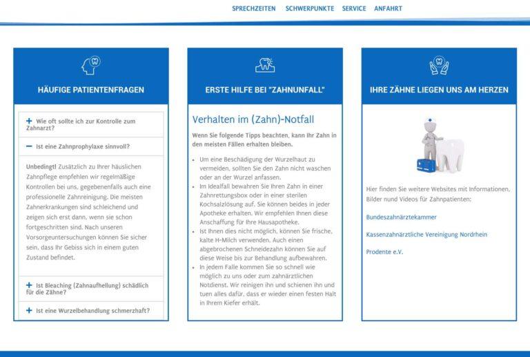 Zahnarzt-Homepage-Beispiel