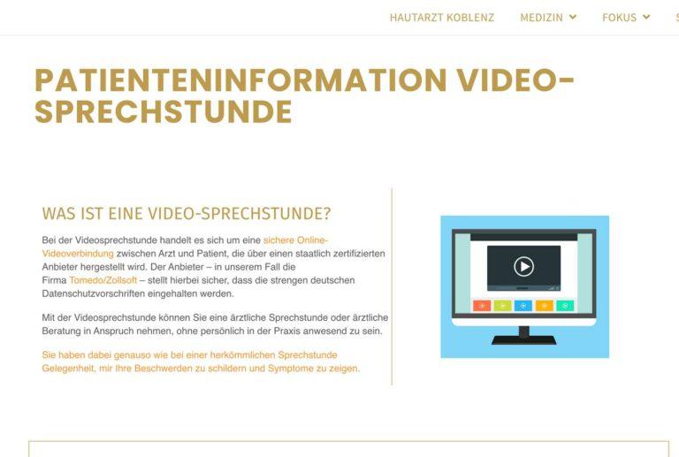 Videosprechstunde-Homepage-Beispiel