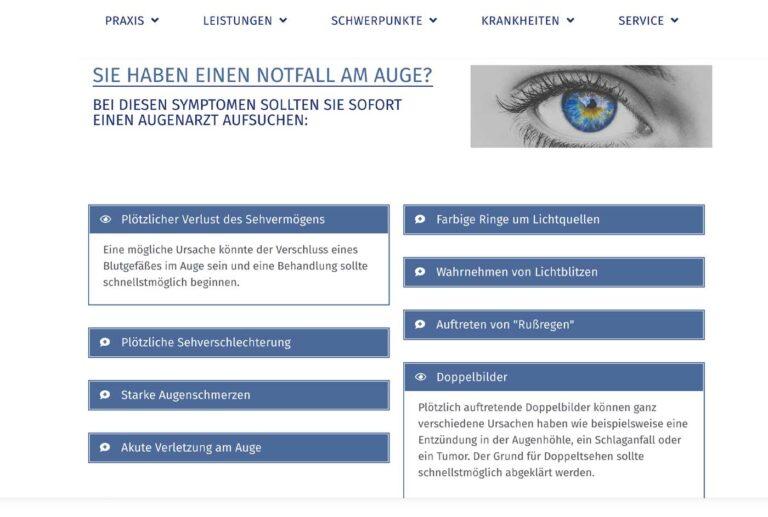 Augenarzt-Homepage-Beispiel